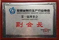 安徽省制衣生产行业协会副会长单位